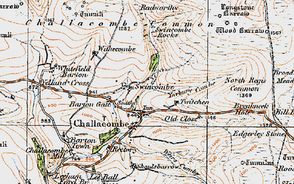 Old map of Wood Barrow in 1919