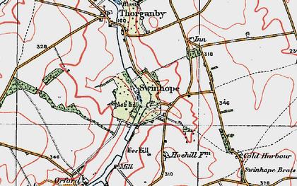 Old map of Swinhope in 1923