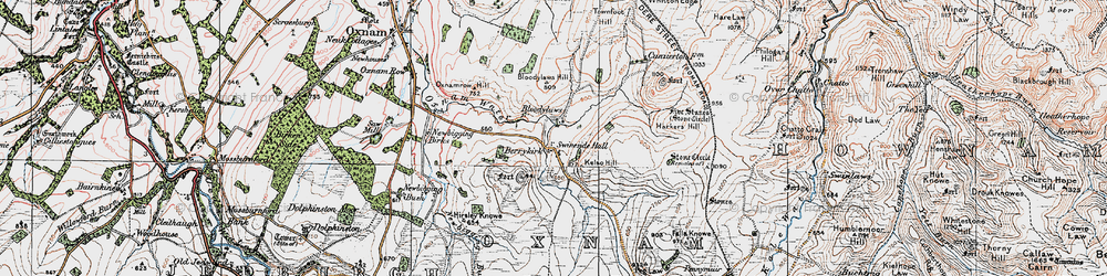 Old map of Whitton Edge in 1926