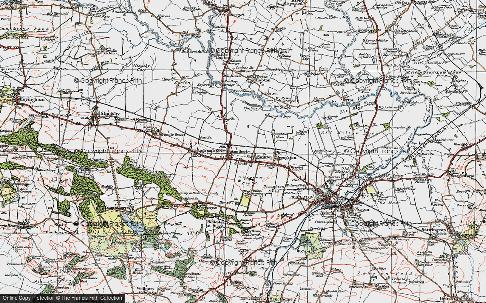 Old Map of Swinton, 1924 in 1924