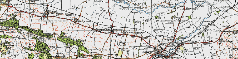 Old map of Swinton in 1924