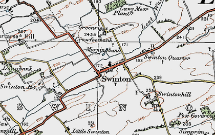 Old map of Laws Moor Plantn in 1926