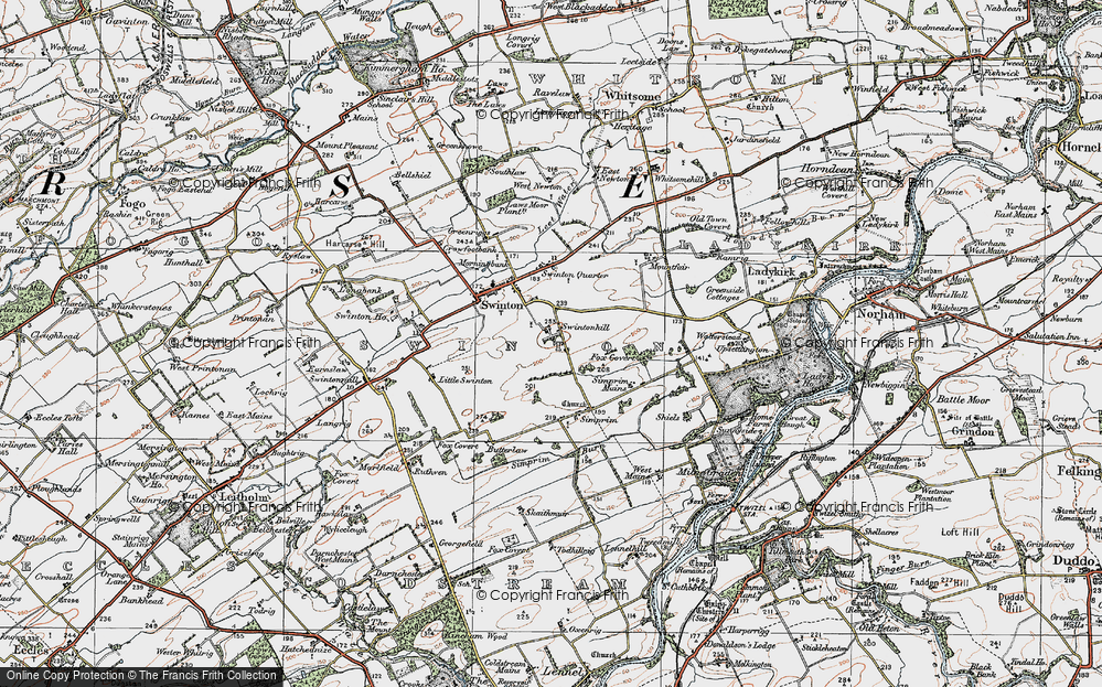 Old Map of Historic Map covering Todhillrig in 1926