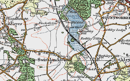 Old map of Swithland in 1921