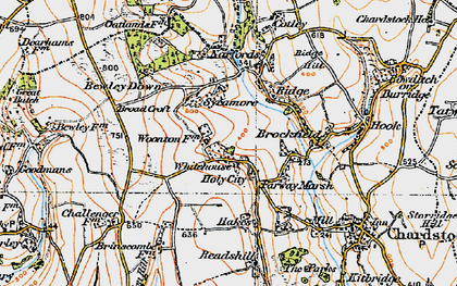 Old map of Whitehouse in 1919