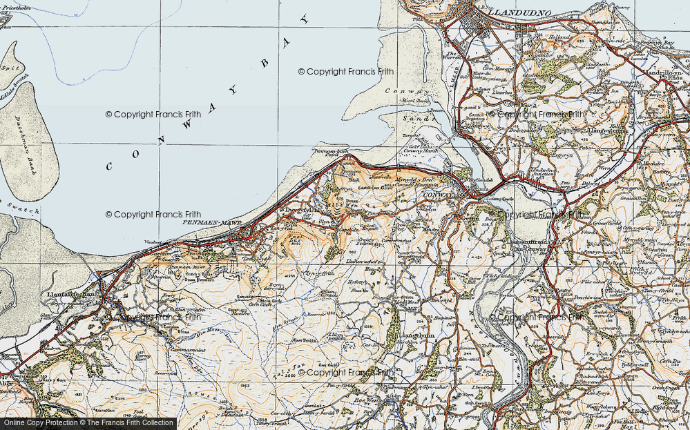 Old Map of Historic Map covering Alltwen in 1922