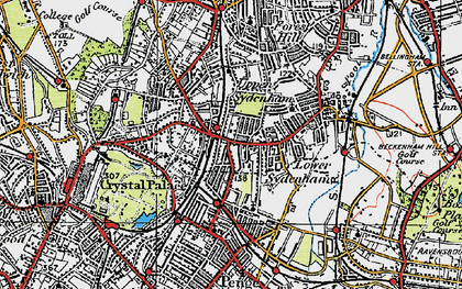 Old map of Sydenham in 1920
