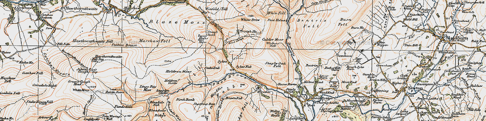 Old map of Winfold Fell in 1924