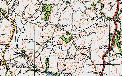Old map of Ystradfai in 1923