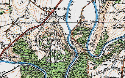 Old map of Symonds Yat in 1919