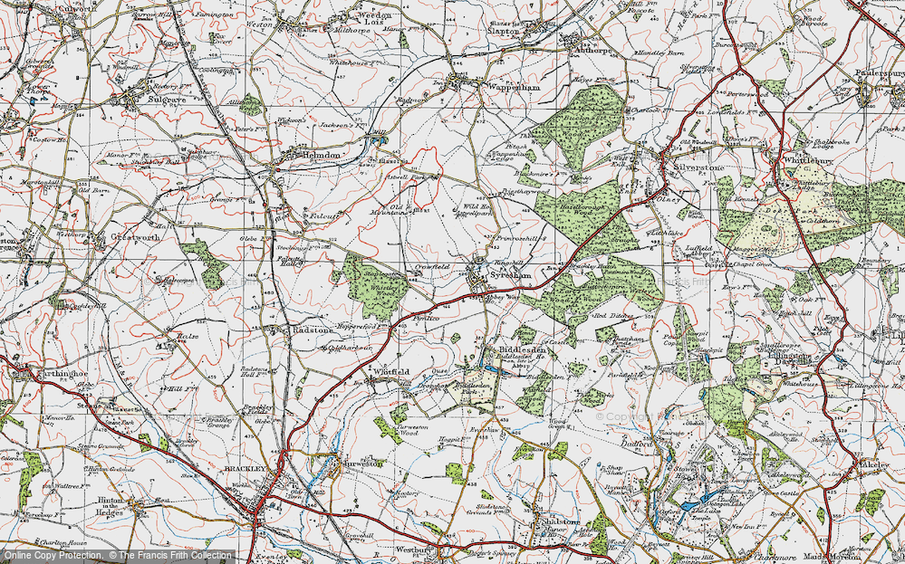 Old Map of Historic Map covering Abbey Way Ho in 1919