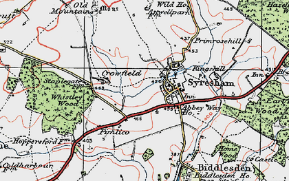 Old map of Abbey Way Ho in 1919