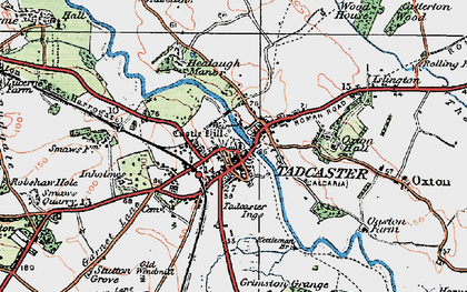 Old map of Tadcaster in 1925