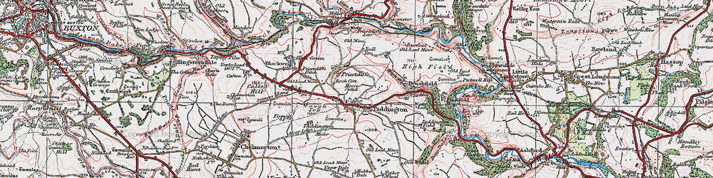Old map of Taddington in 1923