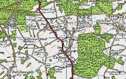 Old map of Tadley in 1919