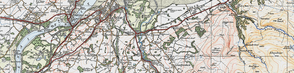 Old map of Aber-Ogwen in 1922