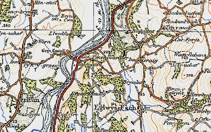 Old map of Tal-y-cafn in 1922