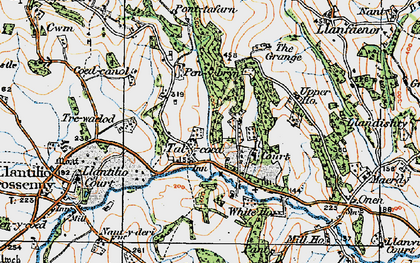 Old map of Ash Grove in 1919