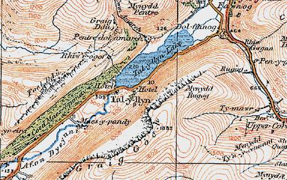 Old map of Tal-y-llyn in 1921