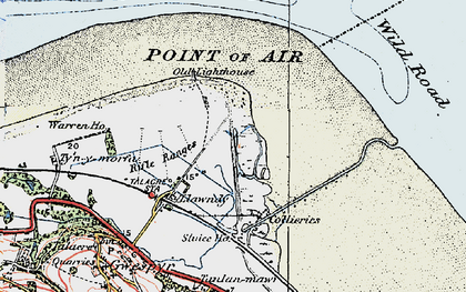 Old map of Talacre in 1924