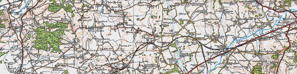 Old map of Talaton in 1919