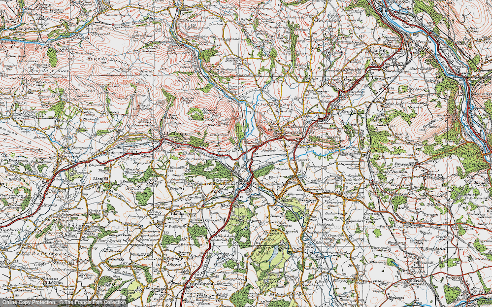 Old Map of Talbot Green, 1922 in 1922