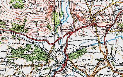 Old map of Talbot Green in 1922