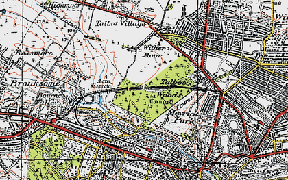 Old map of Talbot Woods in 1919
