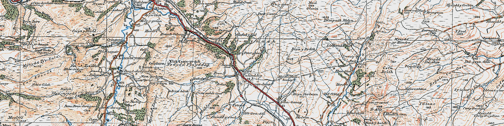 Old map of Tirymynach in 1921
