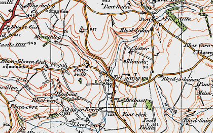 Old map of Whilgarn in 1923