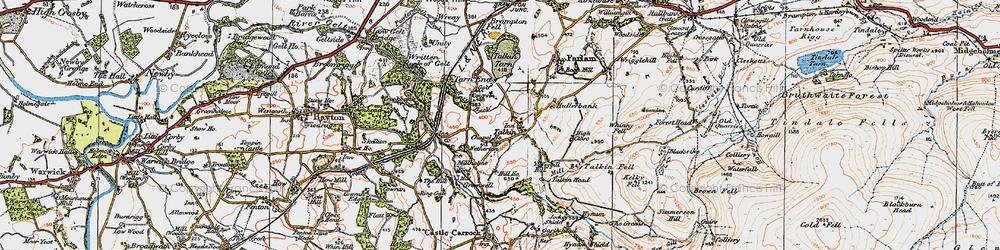 Old map of Talkin in 1925