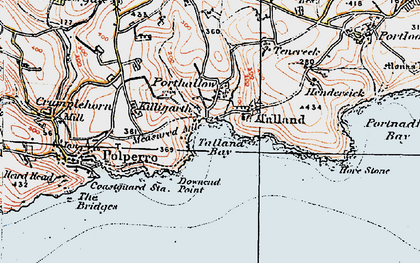 Old map of Talland Bay in 1919