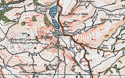 Old map of Talley in 1923