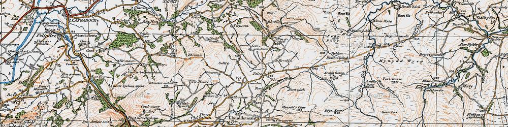 Old map of Tirpaun in 1923