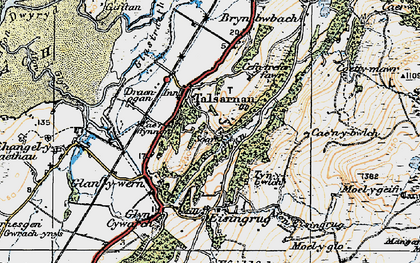 Old map of Talsarnau in 1922