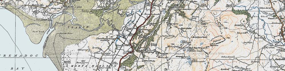 Old map of Talsarnau in 1922