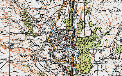 Old map of Talywain in 1919