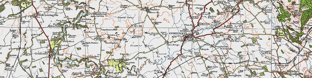 Old map of Windy Hill in 1925