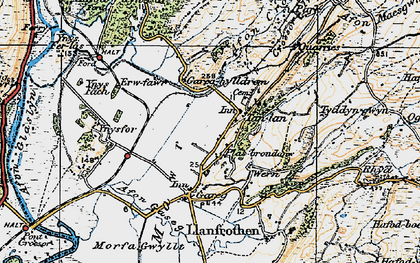 Old map of Ynys Fâch in 1922