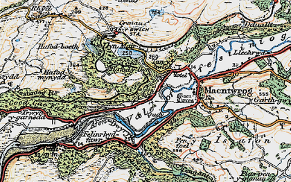 Old map of Afon Dwyryd in 1922