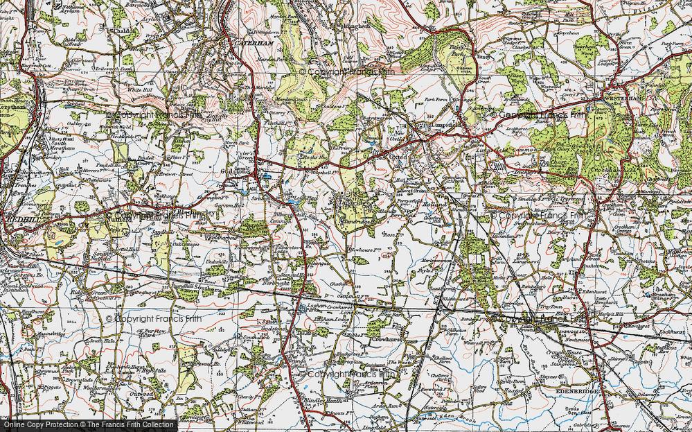 Old Map of Tandridge, 1920 in 1920