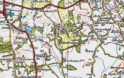 Old map of Tandridge in 1920