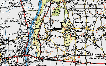 Old map of Taplow in 1920