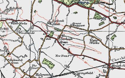 Old map of Tarbock Green in 1923