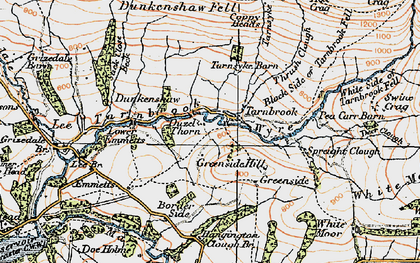 Old map of Lee Fell in 1924