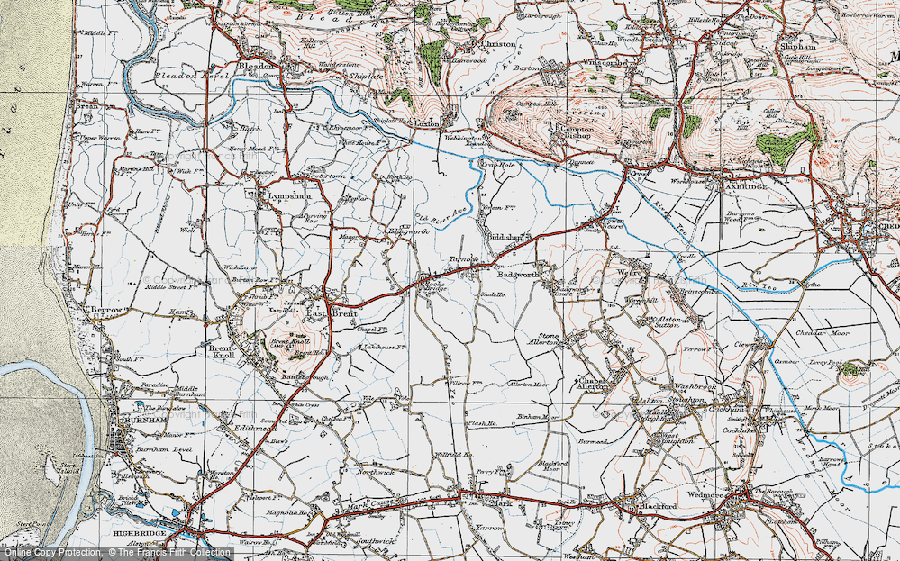 Old Map of Tarnock, 1919 in 1919