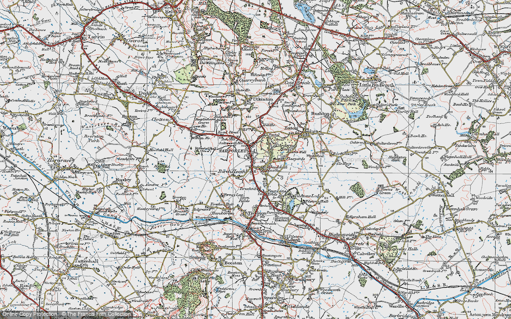 Old Map of Tarporley, 1923 in 1923