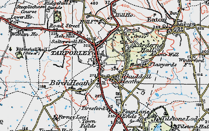 Old map of Tarporley in 1923