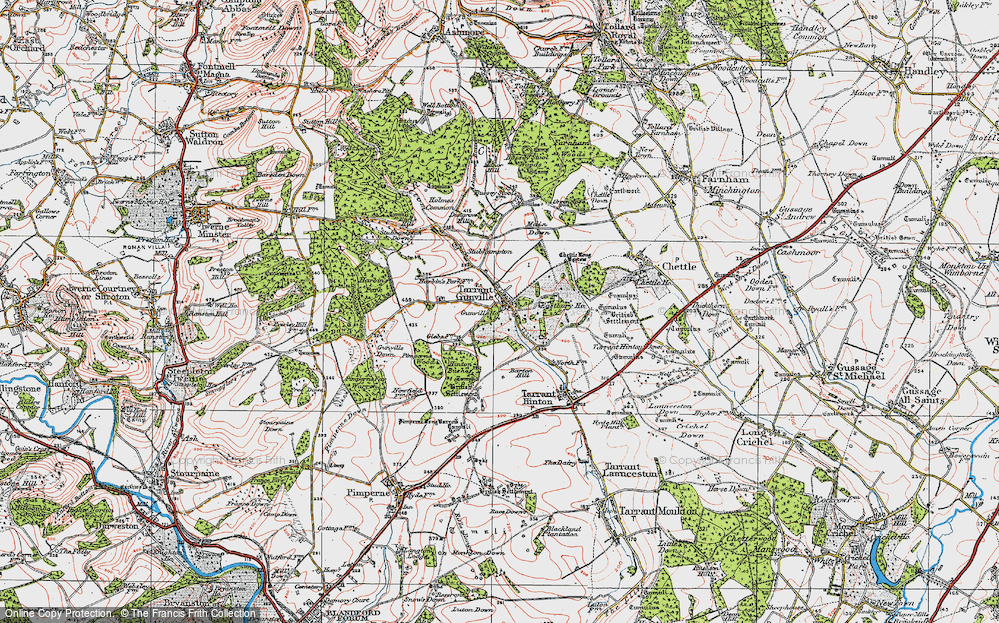 Old Map of Historic Map covering White Kennels in 1919