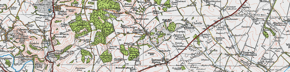 Old map of White Kennels in 1919